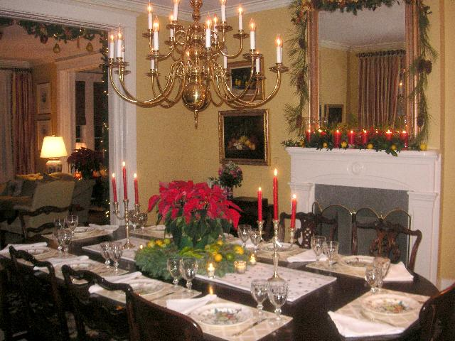 The Dining Room At Christmas